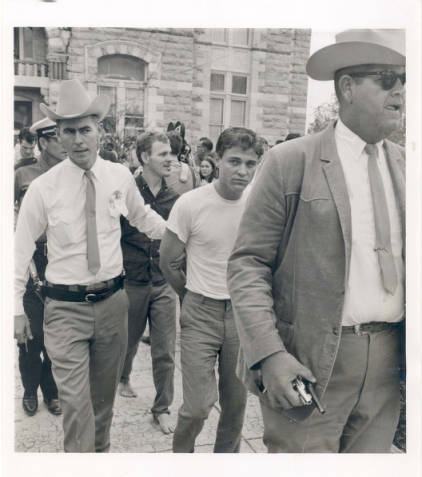 Texas Rangers Escort Prisoner from Courthouse courtesy of Harris County Archives