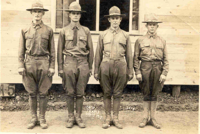 Soldiers from Colorado County at Camp Travis